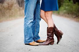 Custom Handmade Cowboy Boots - Guy and Girl wearing Custom Boots