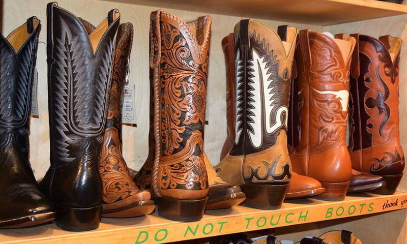 Handcrafted leather cowboy boots