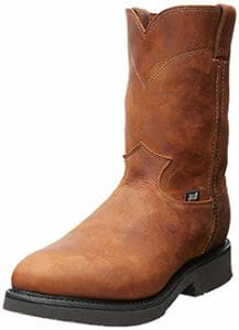Justin Mens Steel Comfort Pull On Work Boot