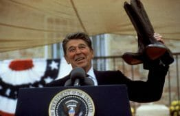 Are Cowboy Boots Cool - President Ronald Reagan with Cowboy Boots
