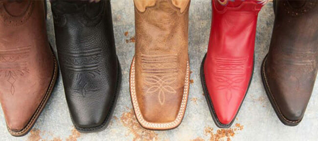 Different Styles Of Cowboy Boots - Cowboy Boots styles for toe types