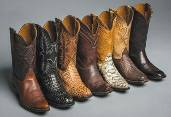 Different Styles Of Cowboy Boots - Seven Pairs of the different styles they come in