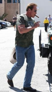 Celebrities Wearing Boots - Arnold Schwarzenegger Wearing Boots