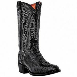 Snakeskin Cowboy Boots - Dan Posts Black Python Snakeskin Boots