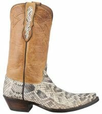 Snakeskin Cowboy Boots - Eastern Rattlesnake Snakeskin Boots From Pinto Ranch