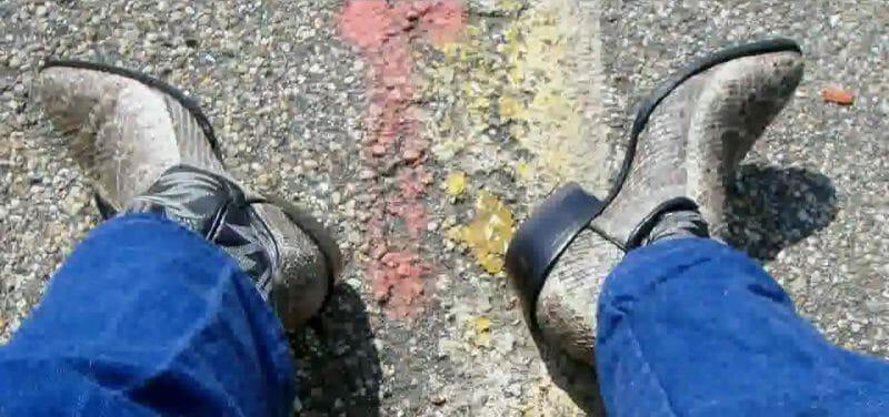 Wearing Snakeskin Cowboy Boots