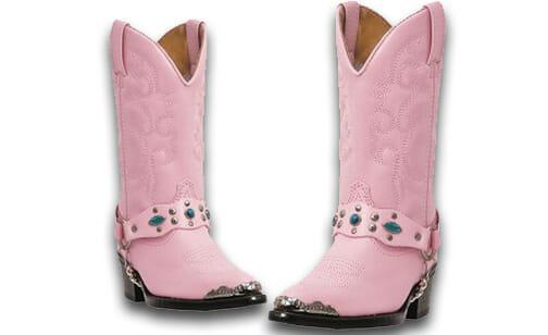 Kids Cowboy Boots Girls - Laredo Little Pink Concho – Kids Cowboy Boots