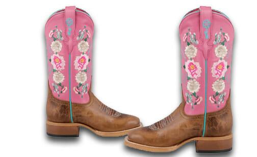 Kids Cowboy Boots Girls - Macie Bean Little girls Honey Bunch Rose Lizard Print Boots