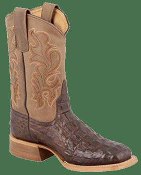 Cowboy Boots Boys - ANDERSON BEAN KIDS CHOCOLATE NILE CROC PRINT KIDS COWBOY BOOTS