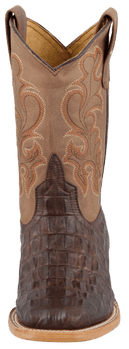 ANDERSON BEAN KIDS CHOCOLATE NILE CROC PRINT KIDS COWBOY BOOTS