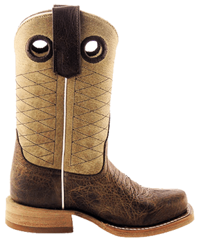 Cowboy Boots Boys - ANDERSON BEAN KIDS TAN AND BROWN PIT BULL KIDS COWBOY BOOTS