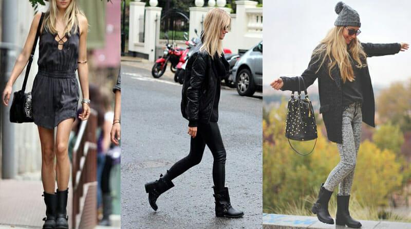 Women's Handmade Biker Boots