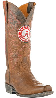 college logo cowboy boots - Alabama Crimson Tide Boardroom Embroidered Men's Cowboy Boots
