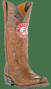 college logo cowboy boots - Alabama Crimson Tide Boardroom Embroidered Men's Cowboy Boots