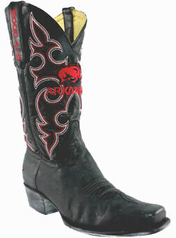 "college logo cowboy boots - Arkansas Razorbacks 13"" Boardroom Embroidered Boots Black"