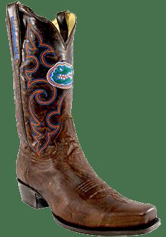 college logo cowboy boots - College Cowboy Boots Men - Florida Gators Boardroom Embroidered Men's Cowboy Boots