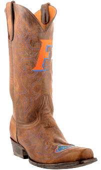 college logo cowboy boots - Florida Gators Embroidered Men's Cowboy Boots