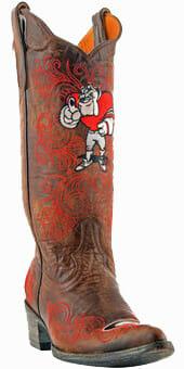 Collegiate Cowboy Boots - Ladies Georgia Bulldogs Boots