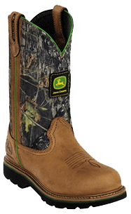 John Deere Jo-Beth Pull-On - Womens Leather Work Boots