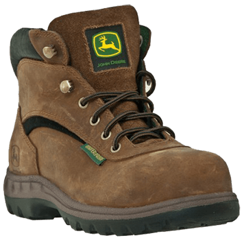 Womens Leather Work Boots - John Deere Memphis Hiker - Women's Work Boot