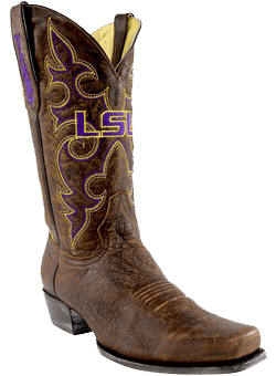 college logo cowboy boots - College Cowboy Boots Men - LSU Tigers Boardroom Embroidered Men's Cowboy Boots
