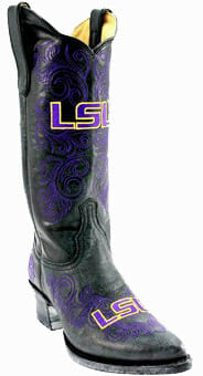 "LSU Tigers Women's 13"" Embroidered Boots - Black"