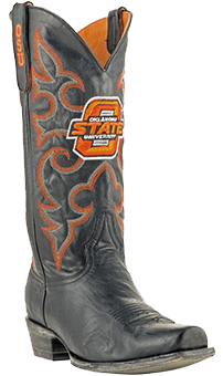 college logo cowboy boots - Oklahoma State Cowboys Boardroom Embroidered Men's Cowboy Boots
