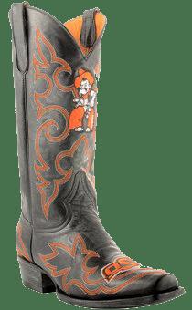 college logo cowboy boots - Fanatics Oklahoma State Cowboys Mens Original Embroidered Boots