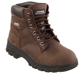 Womens Leather Work Boots - Skechers Womens Work Boot Relaxed Fit Workshire - Peril ST