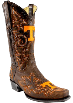 college logo cowboy boots - College Cowboy Boots Men - Tennessee Volunteers Original Embroidered Men's Cowboy Boots