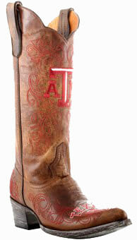 "Texas A&M Aggies Women's 13"" Embroidered Boots - Tan"