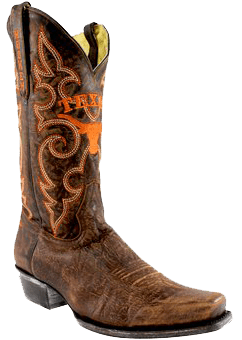college logo cowboy boots - Fanatics Texas Longhorns Boardroom Embroidered Men's Cowboy Boots