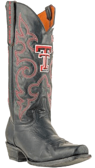Texas Tech Red Raiders Boardroom Embroidered Men's Cowboy Boots