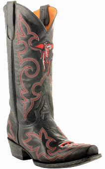 "Texas Tech Red Raiders Masked Rider 13"" Original Embroidered Boots"
