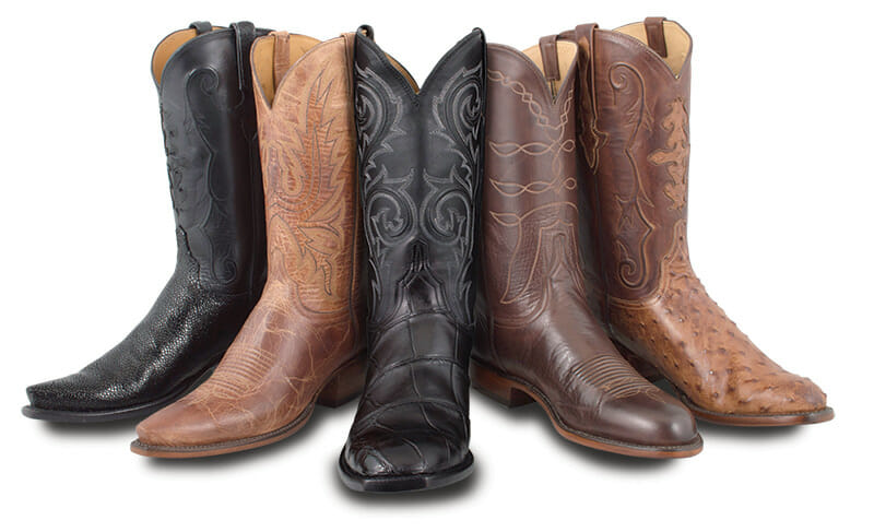 Women's Exotic Skin Cowboy Boots - Assorted Women's Cowgirl Boots