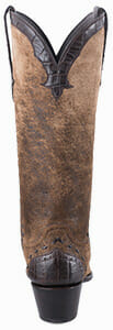 Women's Exotic Skin Cowboy Boots - STALLION WOMEN'S DISTRESSED VINTAGE KIDSKIN AND CAIMAN COWGIRL BOOTS