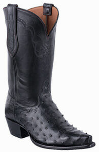 Women's Exotic Skin Cowboy Boots - TONY LAMA SIGNATURE SERIES WOMENS BLACK FULL QUILL OSTRICH BOOTS