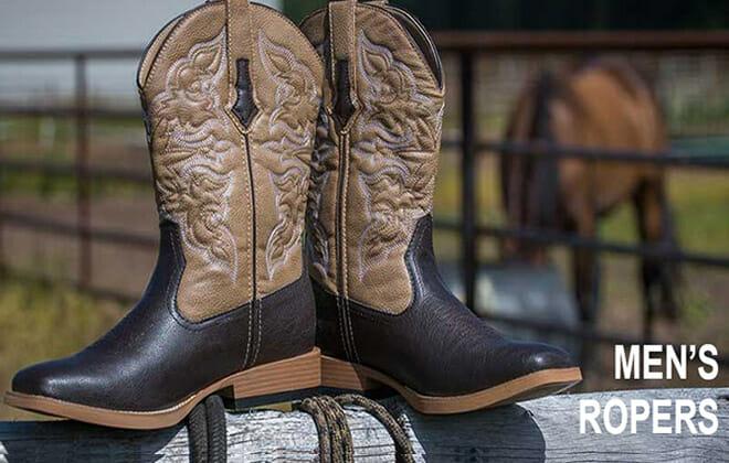 Handmade Roper Cowboy Boots for Men