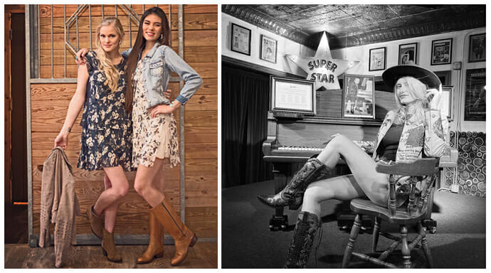 Sexy Cowgirl Boots - 2 women wearing sexy boots