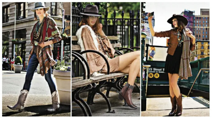 Sexy Cowgirl Boots - 3 women wearing cowgirl boots