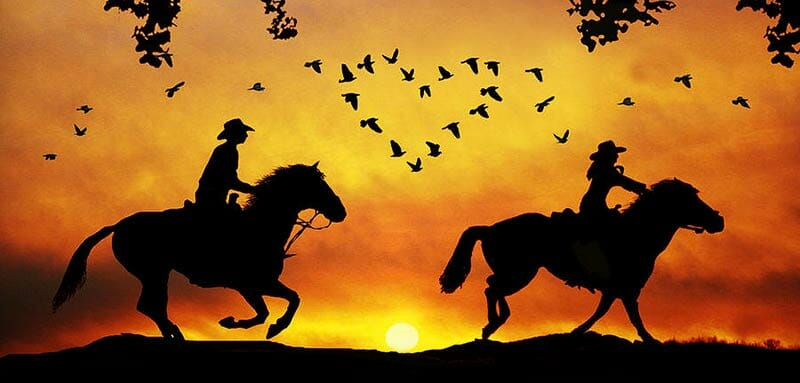 Sexy Cowgirl Boots - Sunset Ladies Cowgirl Boot Background