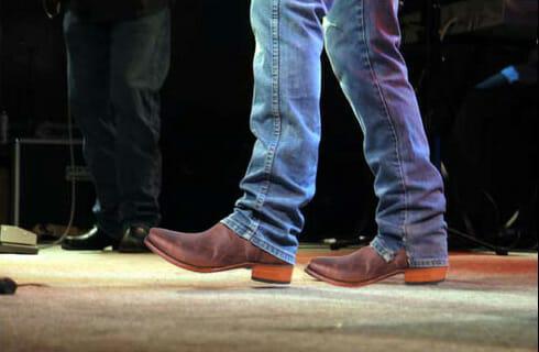 Black Jack Cowboy Boots - Black Jack goat leather handmade cowboy boots