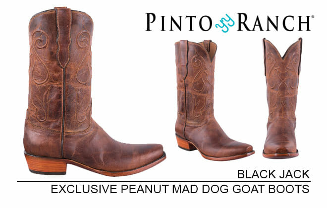 Peanut mad Dog Goat Handmade Cowboy Boots for Men