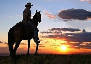 Happy Cowboy Wearing The Best Men's Cowboy Boots!
