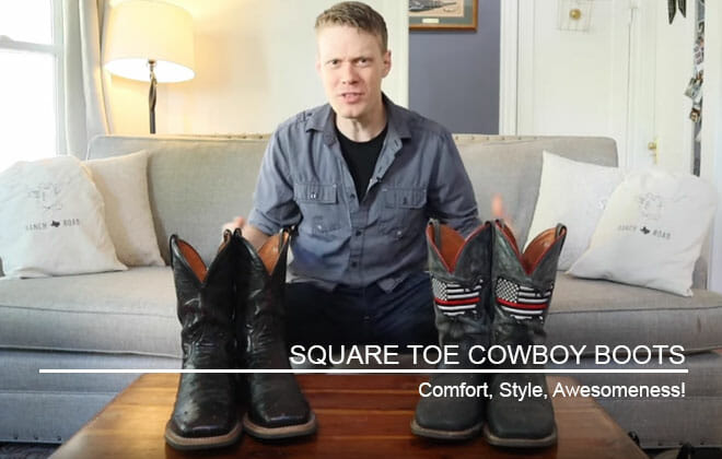 Square Toed Handmade Cowboy Boots