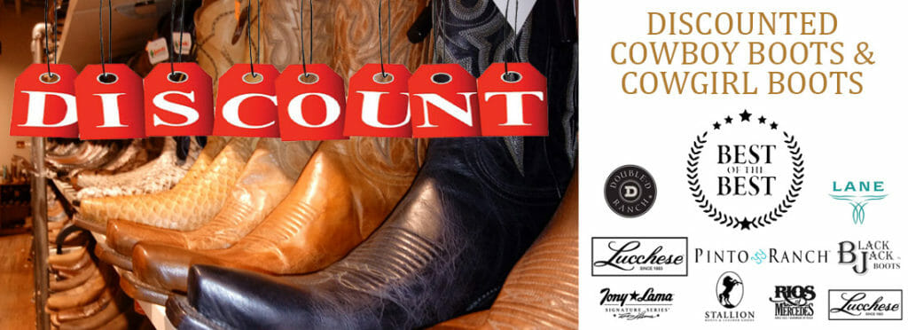 Cheap and Discounted Cowboy Boots for Men and Women