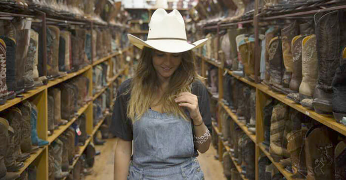 Ladies Cowgirl Boots Sale - Girl Shopping In A Sea Of Cowgirl Boots!