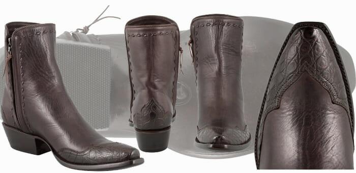 Stallion Boot Sale - Zorro Chocolate Crocodile Ankle Boots