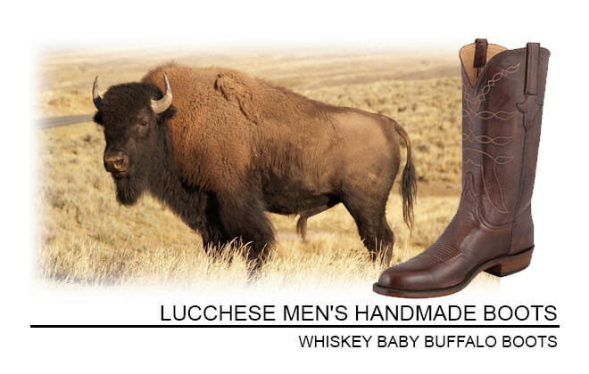 Lucchese Buffalo Boots - Whiskey Baby Buffalo Boots