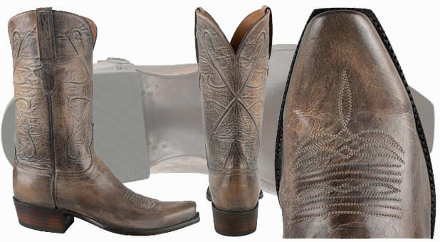 Best Men's Cowboy Boots - Lucchese Pearl Bone Mad Dog Goat Boots